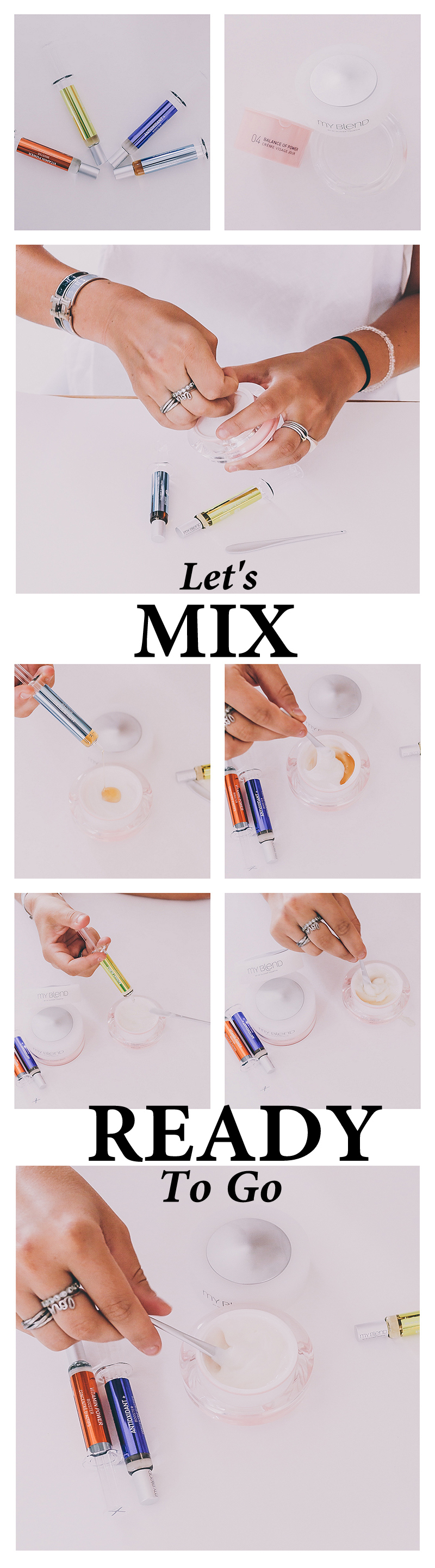 my blend how to mix creams and boosters