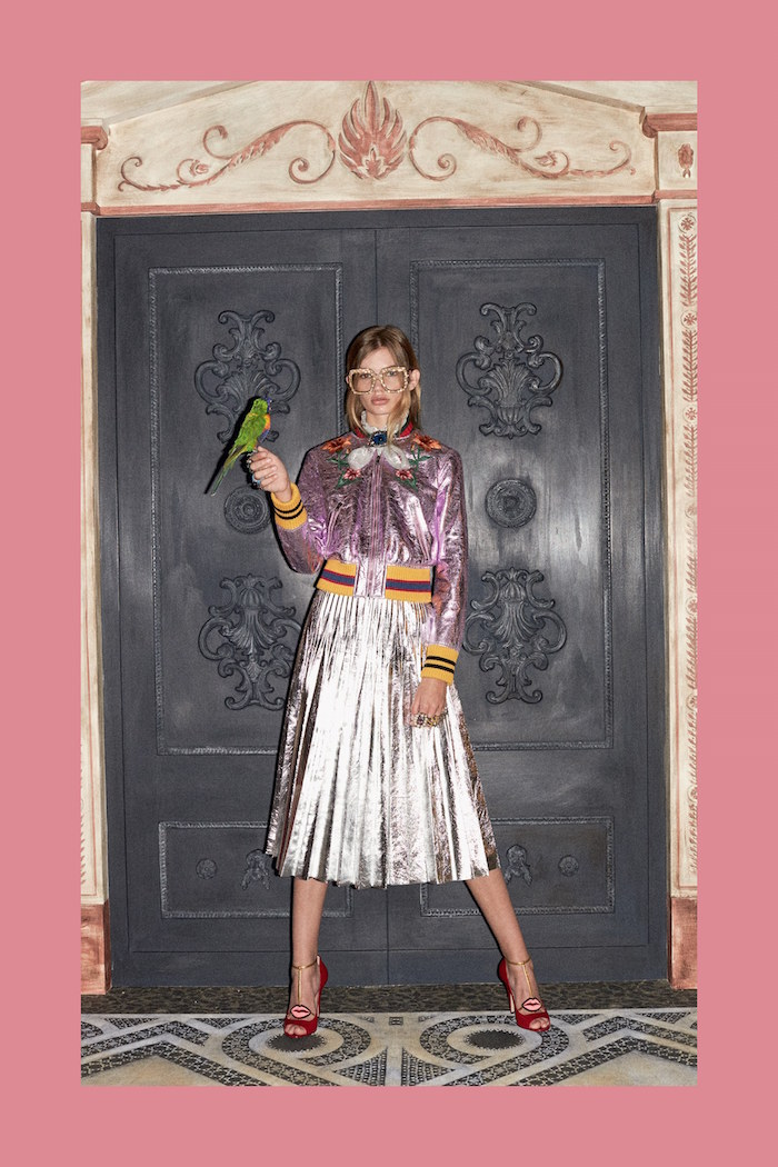 Fashion trend Metallics gucci skirt
