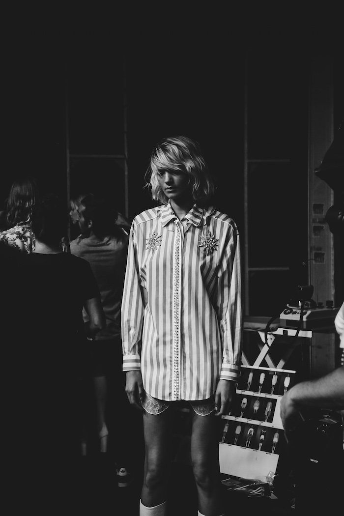 backstage francesco scognamiglio spring summer milan fashion week