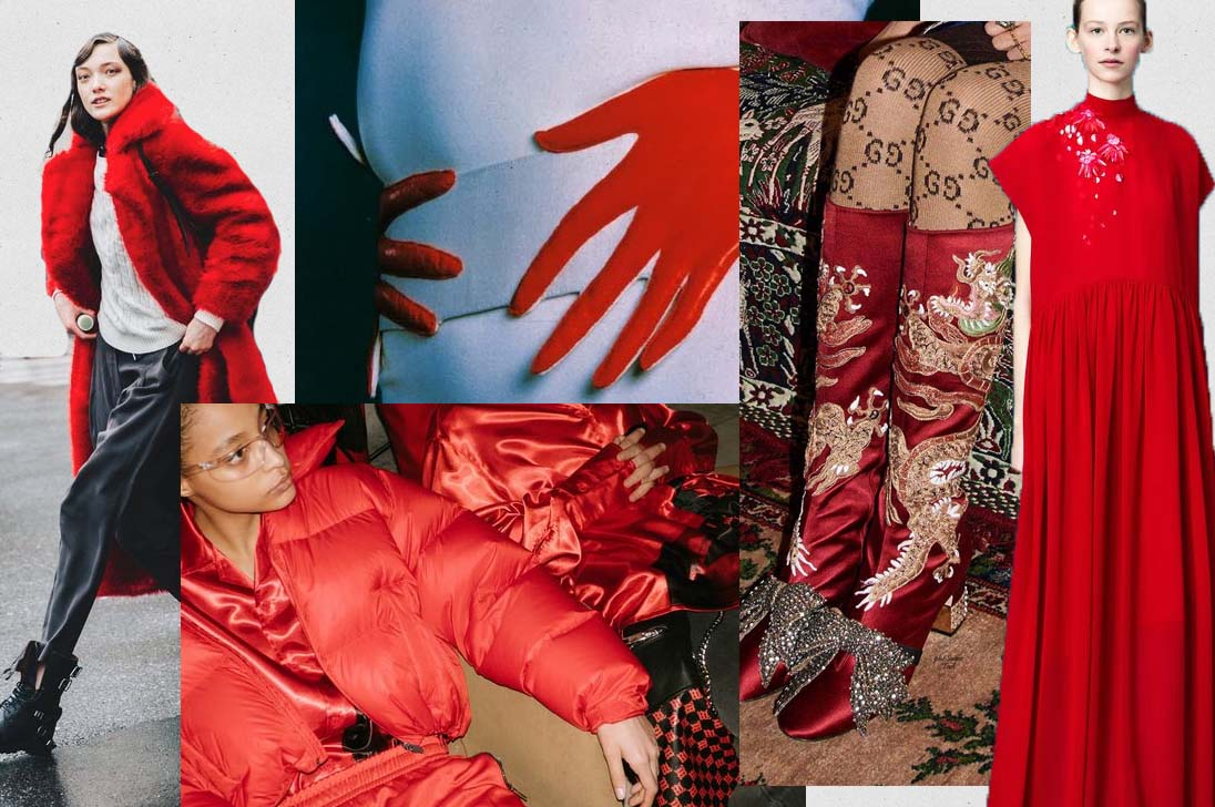 fall winter 2017 2018 fashion trend red