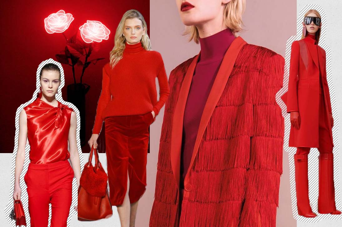 fashion trend red fall winter 2017 2018