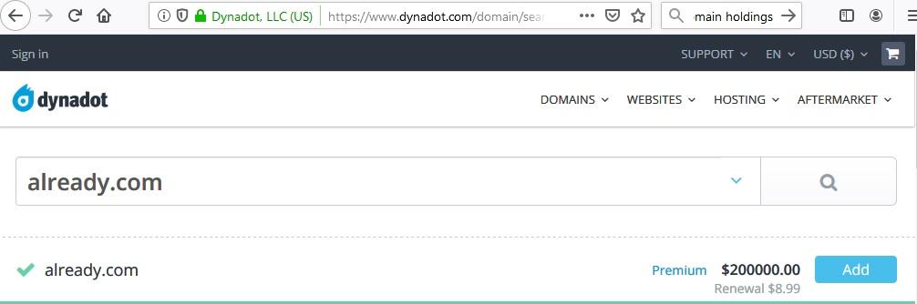 already.com at Dynadot