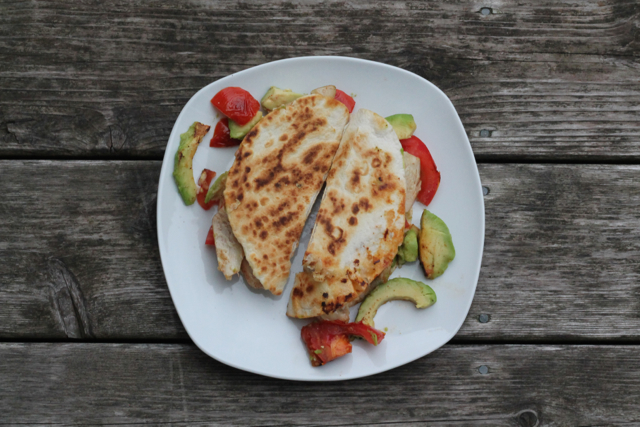 Chicken, Avocado & Tomato Quesadillas | thedomesticblonde.com