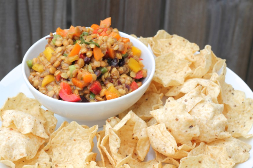 Lentil Bell Pepper Dip | thedomesticblonde.com