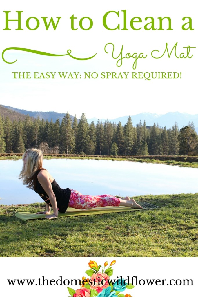 How to Clean a Yoga Mat the Easy Way: No Spray Required! | A Domestic Wildflower shares a simple and totally helpful tip for cleaning a yoga mat the smart way!