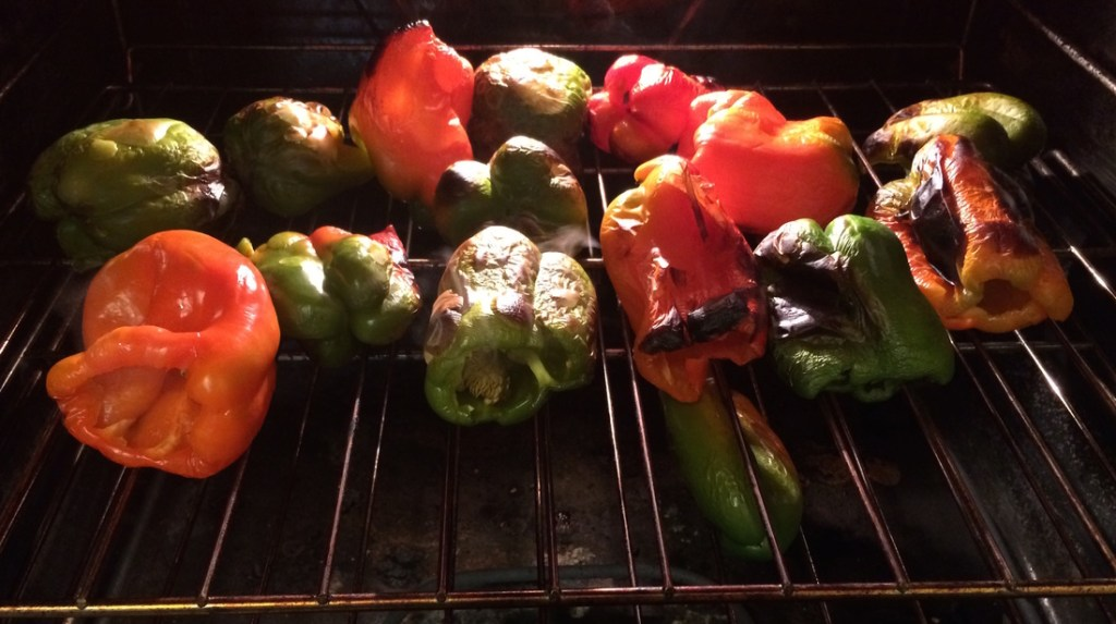Roasted Bell Peppers: How to Can Roasted Bell Peppers Recipe and Tutorial | A Domestic Wildflower click through to read the beginner friendly tutorial and make delicious and versatile roasted bell peppers!