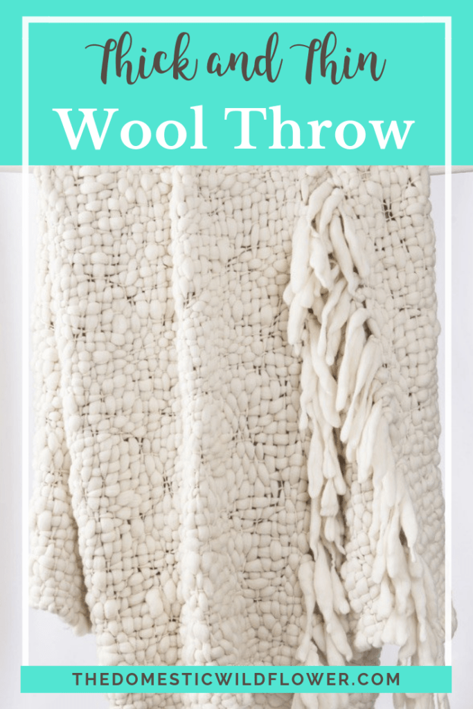 How to Crochet a Thick and Thin Wool Throw Blanket
