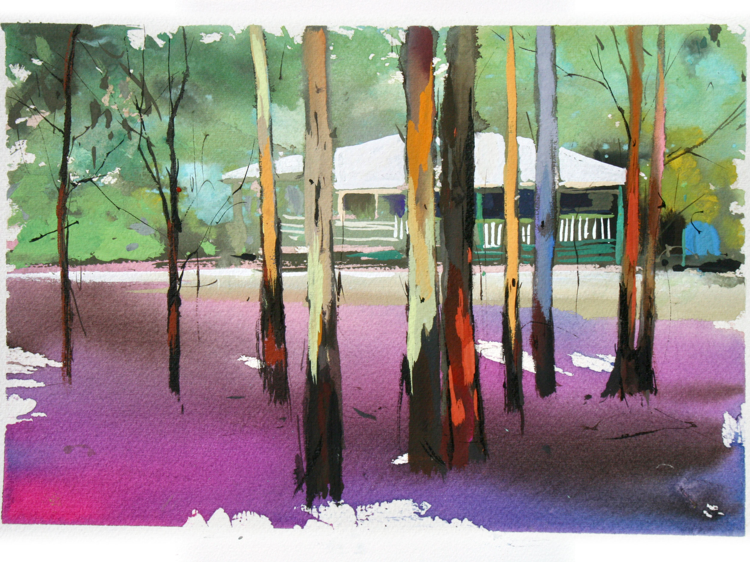 Jennifer-Hopewell, Forest and cottage, Donnelly River