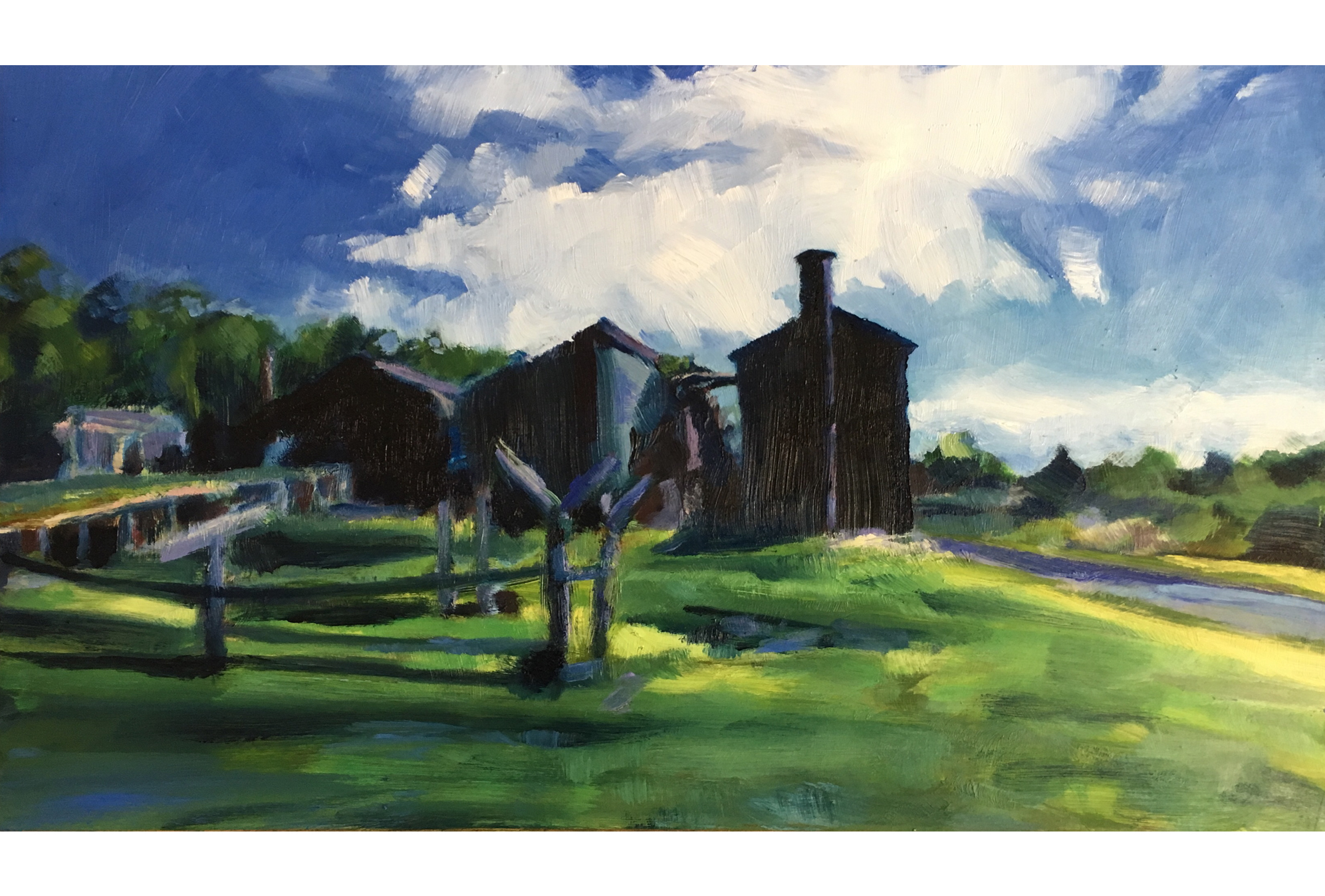 Harvey Mullen Donnelly River Saw Mill and Sky