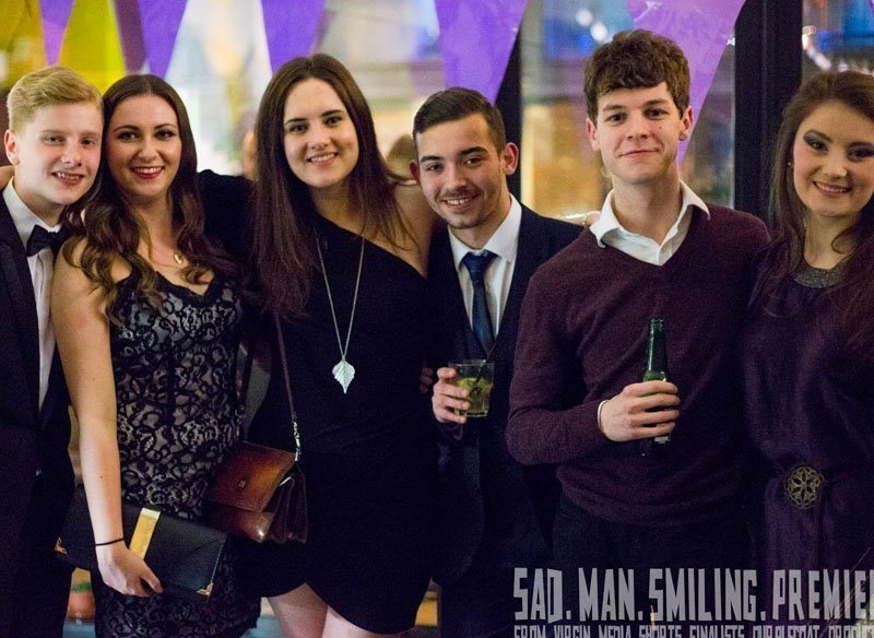 Members of our youth theatre at our film premiere night