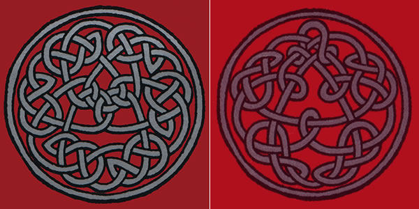 King Crimson Discipline knotwork