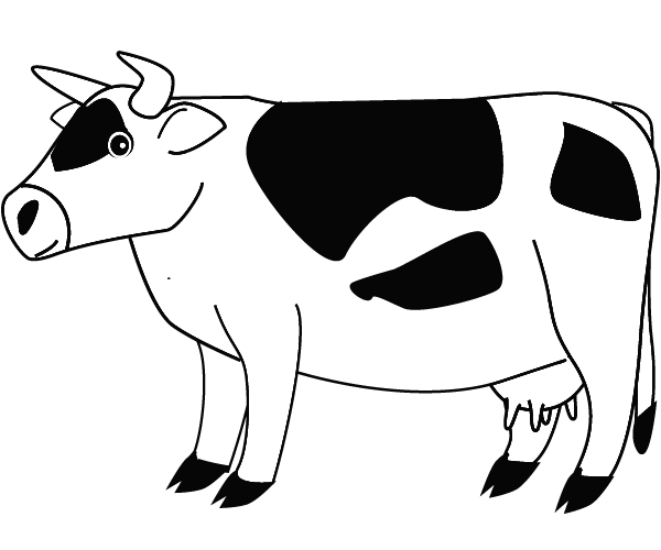 cow coloring page ready to be printed