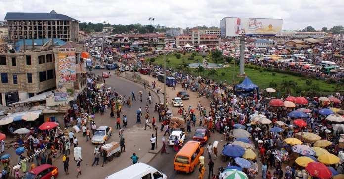 Kejetia market Kumasi, Ghana