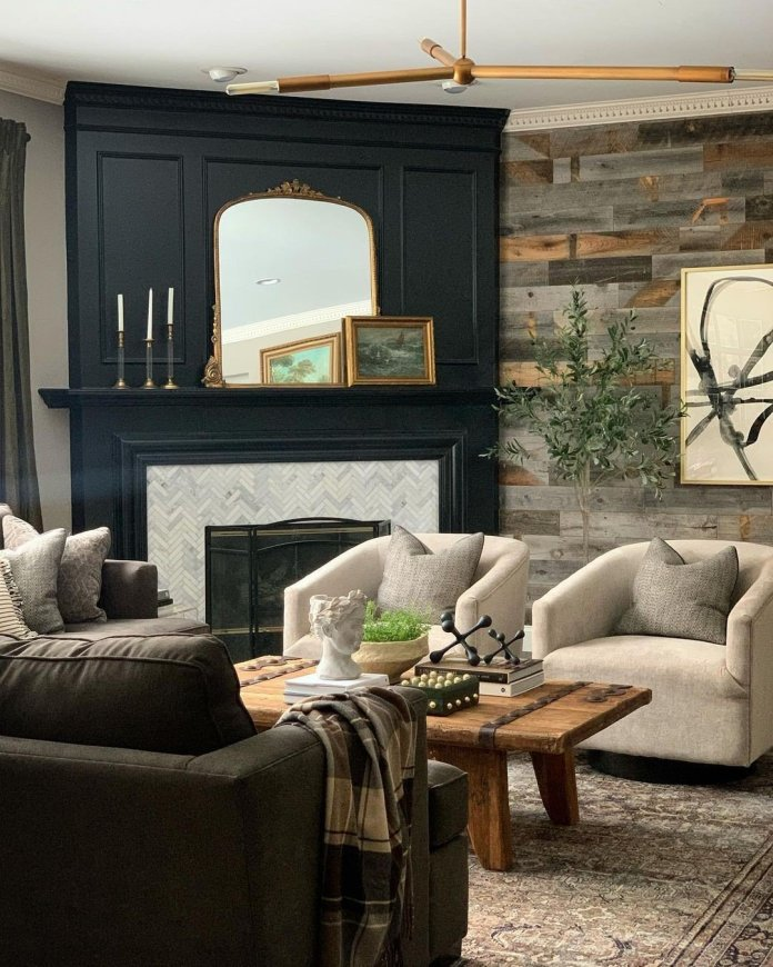 aesthetic Rustic living room