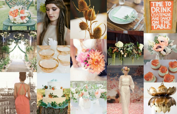 Wedding Inspiration {Papaya & Earthy Greens}