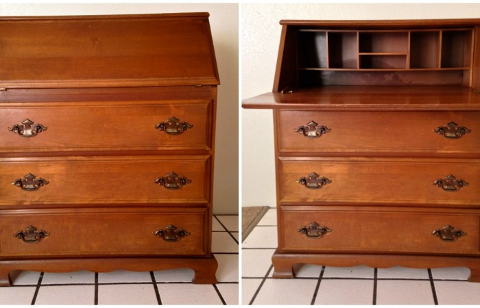 How To : Bureau Desk Makeover