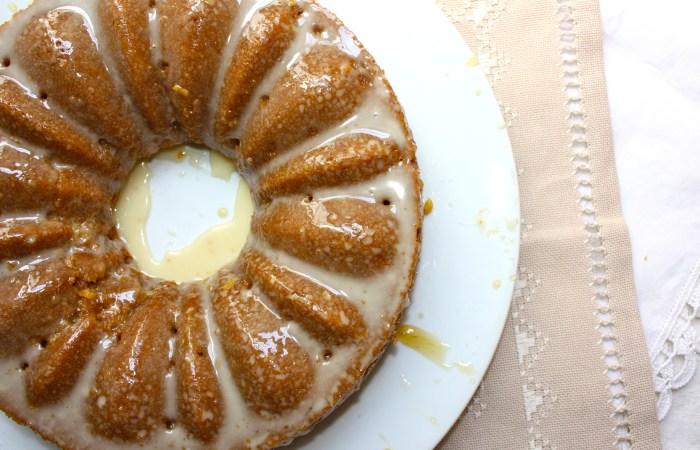 Whole Wheat Lemon + Sage Honey Olive Oil Cake