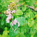 Believe and it Will Come