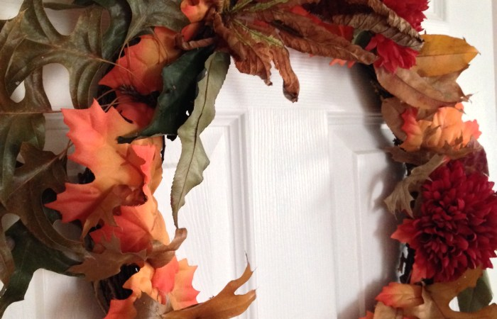 Easy Colorful Fall Wreath How To