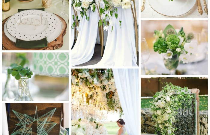 Green + White Wedding Inspiration