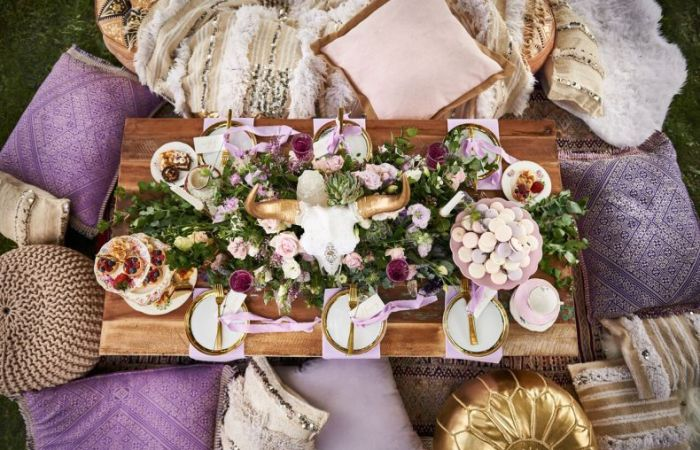 A Luxe Boho Lavender Wedding with Adorn Invitations