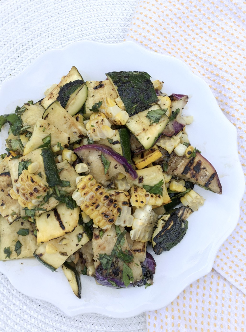 Grilled Summer Squash and Corn Salad | Dreamery Events