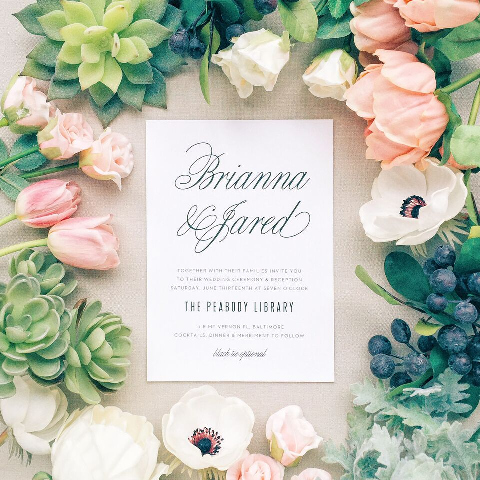 Beautiful Custom Wedding Stationery with Basic Invite