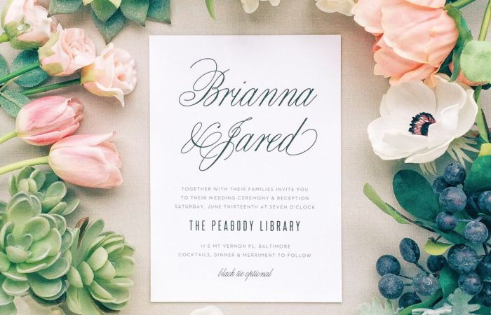 Beautiful Custom Wedding Stationery with Basic Invite
