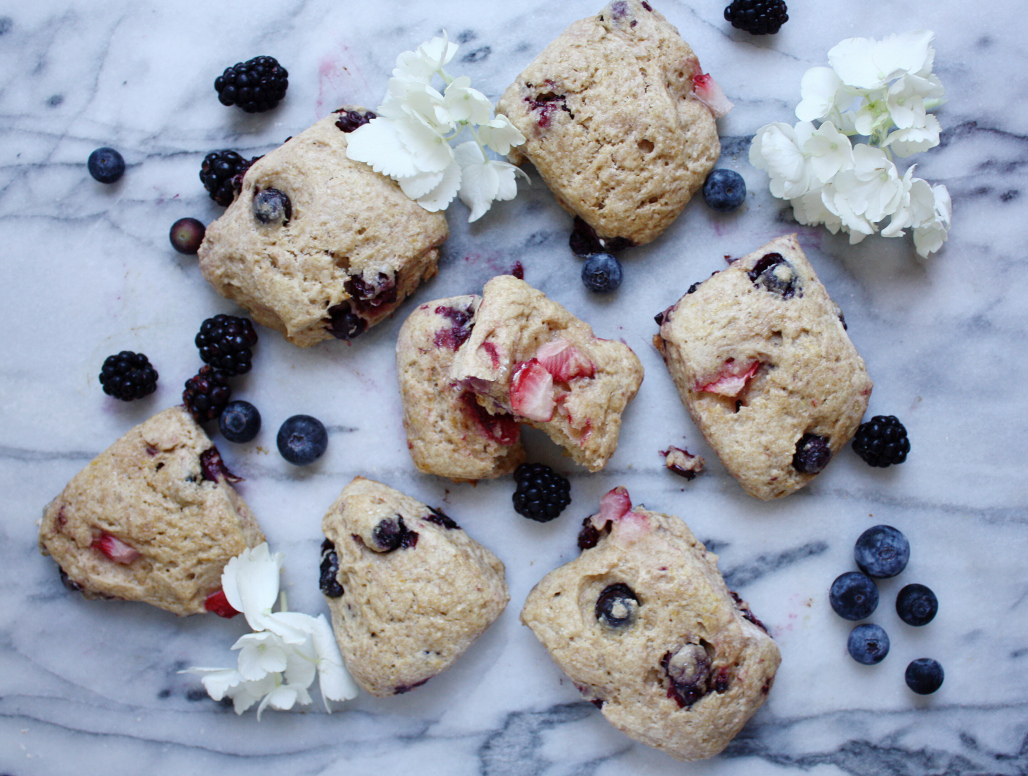 Berry Lemon Whole Wheat Scones
