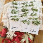 Handmade Holiday :: Rosemary Place Cards