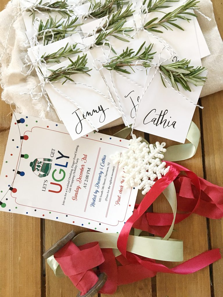 Handmade Holiday : Fresh Herb Place Cards | Dreamery Events