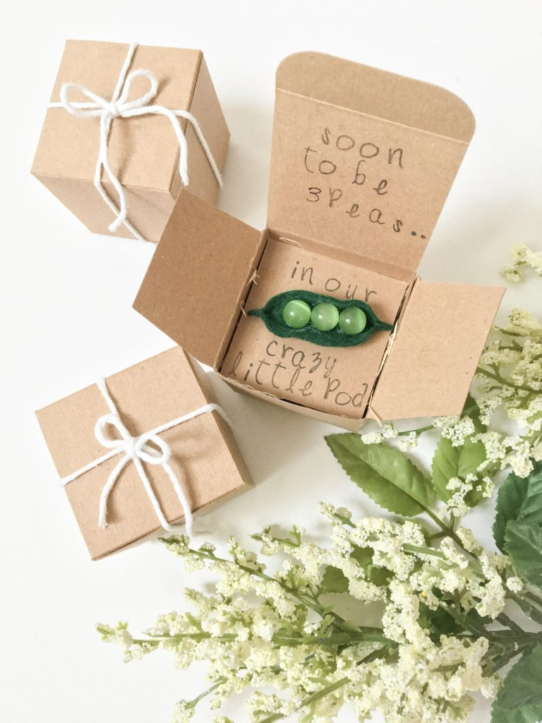 "The Cutest ""Peas in a Pod"" Pregnancy Announcement DIY 