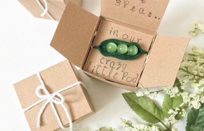 "The Cutest ""Peas in a Pod"" Pregnancy Announcement DIY"