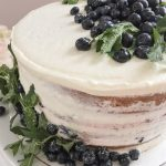 Vanilla Blueberry Layered Cake with Cream Cheese Frosting