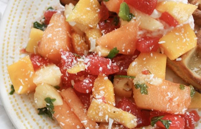 Sweet & Savory Summer Fruit Salad