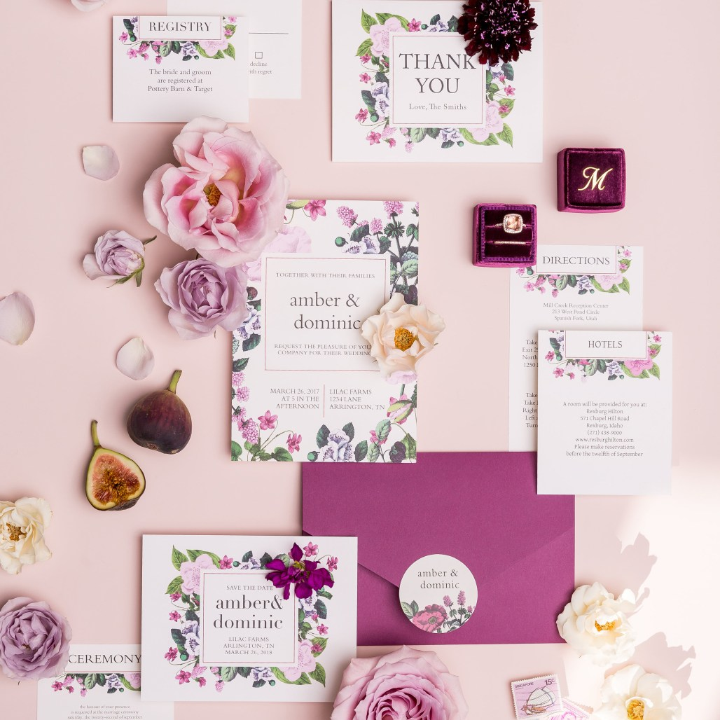 Formal Save the Dates with Basic Invite    Dreamery Events