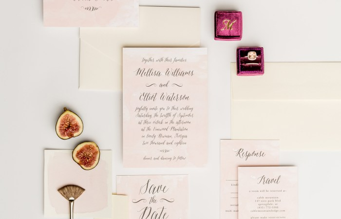 Formal Save the Dates with Basic Invite & Your Top Etiquette Questions Answered