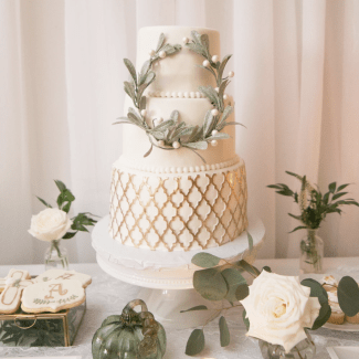 A Modern Classic Green, White & Gold Autumn Christening || Dreamery Events