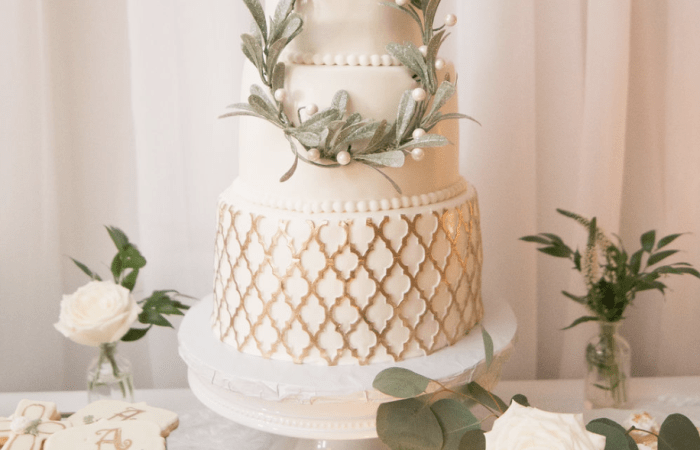 A Modern Classic Green & White Autumn Christening