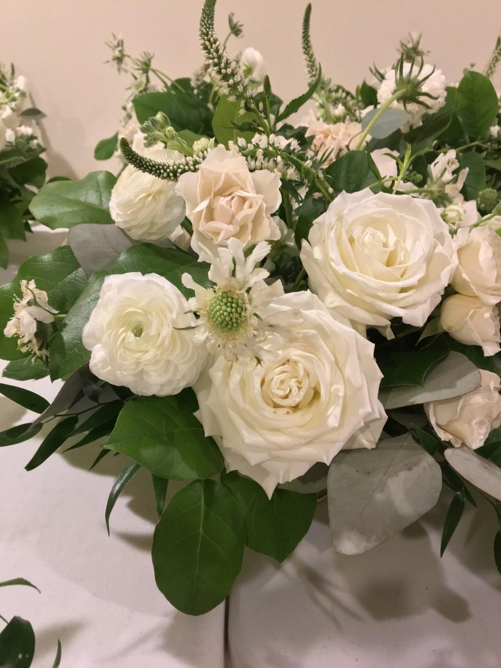 A Modern Classic Green, White & Gold Autumn Christening