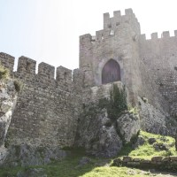 Medieval Castle Walls with Cobblestone Alleys Forever Marked of History & Culture    Óbidos, Portugal