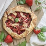 Strawberry, Peach & Basil Balsamic Galette