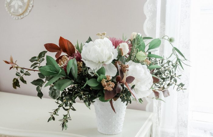 Autumn Florals :: A Foraged Peony Arrangement || Dreamery Events
