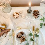 A Refined Minimalist Table that transitions from Thanksgiving into Winter Holidays ….. Using Items you Already Have at Home