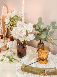 Amber is the Color of your Energy ... a Cottagecore Inspired Valentine's Tablescape    Dreamery Events