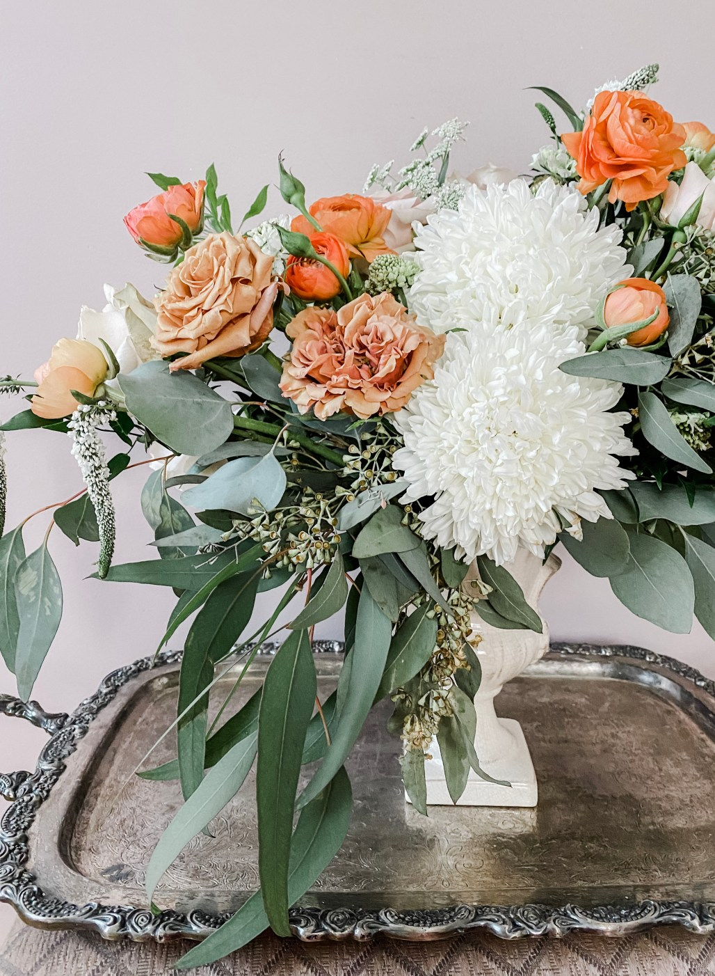 Floral Inspiration :: Boho Terrcotta Hues meets French Country Garden
