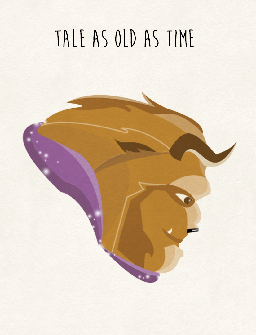 beauty beast illustration