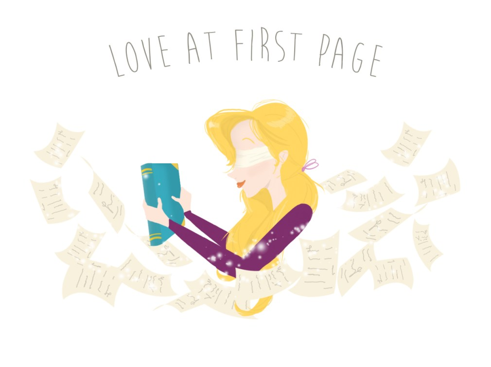 blind date book illustration