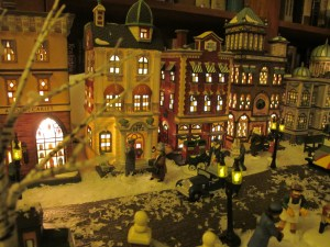 A wintery scene from one of our lighted Christmas in the City streets.