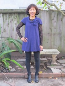 Tunic - not cape - and leggings.
